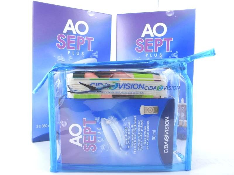2x  AO SEPT PLUS  2x 360ml + 1 Reiseset mit 1x 90ml