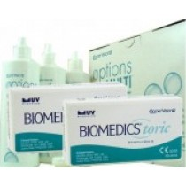 Biomedics Toric, 2x 6er Box + Pflegemittel