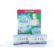 Air Optix Aqua, 2x 3er Box + Pflegemittel